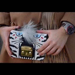 "Limited Edition Furla White Tiger ""Jungle bag"""